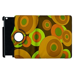Brown Pattern Apple Ipad 2 Flip 360 Case by Valentinaart