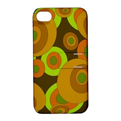 Brown Pattern Apple Iphone 4/4s Hardshell Case With Stand by Valentinaart