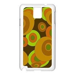Brown pattern Samsung Galaxy Note 3 N9005 Case (White) by Valentinaart