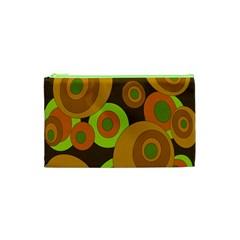 Brown Pattern Cosmetic Bag (xs) by Valentinaart