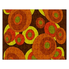 Orange Pattern Rectangular Jigsaw Puzzl by Valentinaart