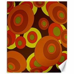 Orange Pattern Canvas 8  X 10  by Valentinaart