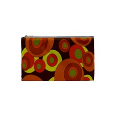 Orange Pattern Cosmetic Bag (small)  by Valentinaart