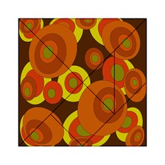 Orange Pattern Acrylic Tangram Puzzle (6  X 6 ) by Valentinaart