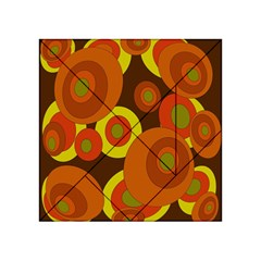 Orange Pattern Acrylic Tangram Puzzle (4  X 4 ) by Valentinaart