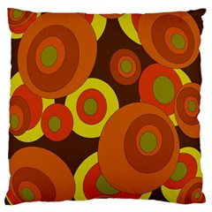 Orange Pattern Large Cushion Case (two Sides) by Valentinaart
