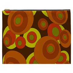 Orange Pattern Cosmetic Bag (xxxl)  by Valentinaart