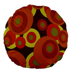 Orange Pattern Large 18  Premium Round Cushions by Valentinaart