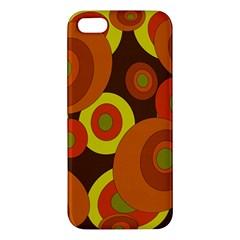Orange Pattern Apple Iphone 5 Premium Hardshell Case by Valentinaart