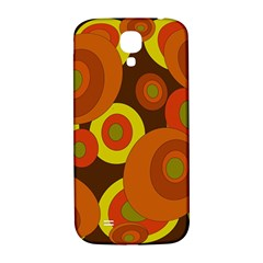 Orange Pattern Samsung Galaxy S4 I9500/i9505  Hardshell Back Case by Valentinaart