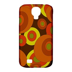 Orange Pattern Samsung Galaxy S4 Classic Hardshell Case (pc+silicone) by Valentinaart