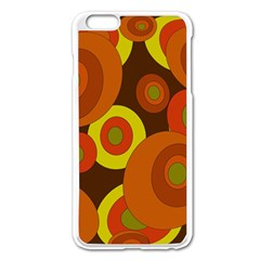 Orange Pattern Apple Iphone 6 Plus/6s Plus Enamel White Case by Valentinaart