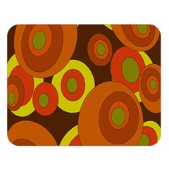 Orange Pattern Double Sided Flano Blanket (large)  by Valentinaart
