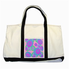Pink Pattern Two Tone Tote Bag by Valentinaart