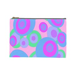 Pink Pattern Cosmetic Bag (large)  by Valentinaart