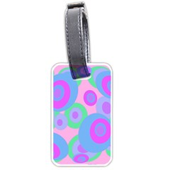 Pink Pattern Luggage Tags (one Side)  by Valentinaart