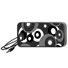 Gray pattern Portable Speaker (Black)  by Valentinaart