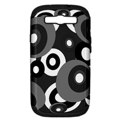 Gray Pattern Samsung Galaxy S Iii Hardshell Case (pc+silicone) by Valentinaart