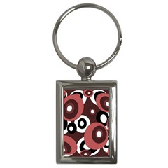 Decorative Pattern Key Chains (rectangle)  by Valentinaart