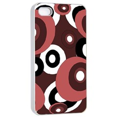 Decorative Pattern Apple Iphone 4/4s Seamless Case (white) by Valentinaart