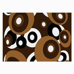 Brown Pattern Large Glasses Cloth by Valentinaart