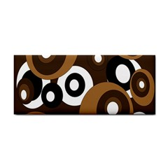 Brown Pattern Hand Towel by Valentinaart