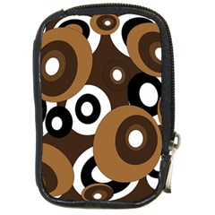 Brown pattern Compact Camera Cases by Valentinaart
