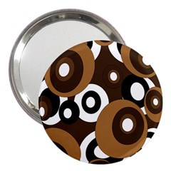 Brown pattern 3  Handbag Mirrors by Valentinaart