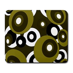 Green Pattern Large Mousepads by Valentinaart