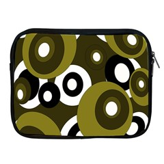 Green Pattern Apple Ipad 2/3/4 Zipper Cases by Valentinaart