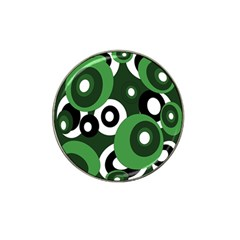 Green Pattern Hat Clip Ball Marker (4 Pack) by Valentinaart