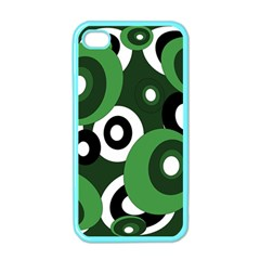 Green Pattern Apple Iphone 4 Case (color) by Valentinaart