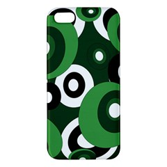 Green Pattern Iphone 5s/ Se Premium Hardshell Case by Valentinaart