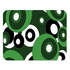 Green Pattern Double Sided Flano Blanket (large)  by Valentinaart