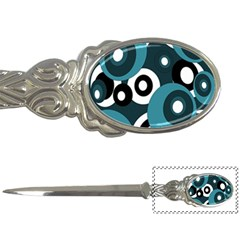 Blue Pattern Letter Openers by Valentinaart