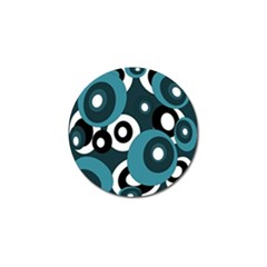 Blue Pattern Golf Ball Marker by Valentinaart