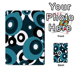 Blue Pattern Multi Purpose Cards (rectangle)  by Valentinaart