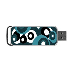Blue Pattern Portable Usb Flash (one Side) by Valentinaart