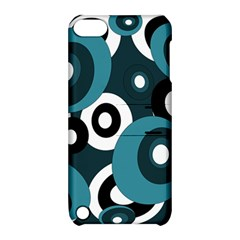 Blue pattern Apple iPod Touch 5 Hardshell Case with Stand by Valentinaart