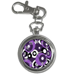 Purple Pattern Key Chain Watches by Valentinaart