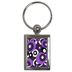 Purple Pattern Key Chains (rectangle)  by Valentinaart