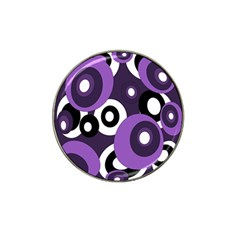 Purple Pattern Hat Clip Ball Marker (4 Pack) by Valentinaart