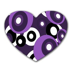 Purple Pattern Heart Mousepads by Valentinaart