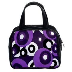 Purple Pattern Classic Handbags (2 Sides) by Valentinaart