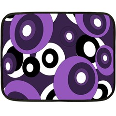 Purple Pattern Fleece Blanket (mini) by Valentinaart
