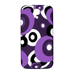 Purple Pattern Samsung Galaxy S4 I9500/i9505  Hardshell Back Case by Valentinaart