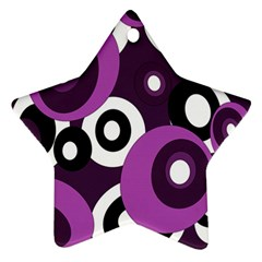 Purple Pattern Ornament (star)  by Valentinaart