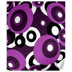 Purple Pattern Canvas 8  X 10  by Valentinaart