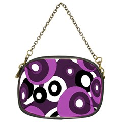 Purple Pattern Chain Purses (one Side)