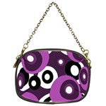 Purple pattern Chain Purses (One Side)  Front
